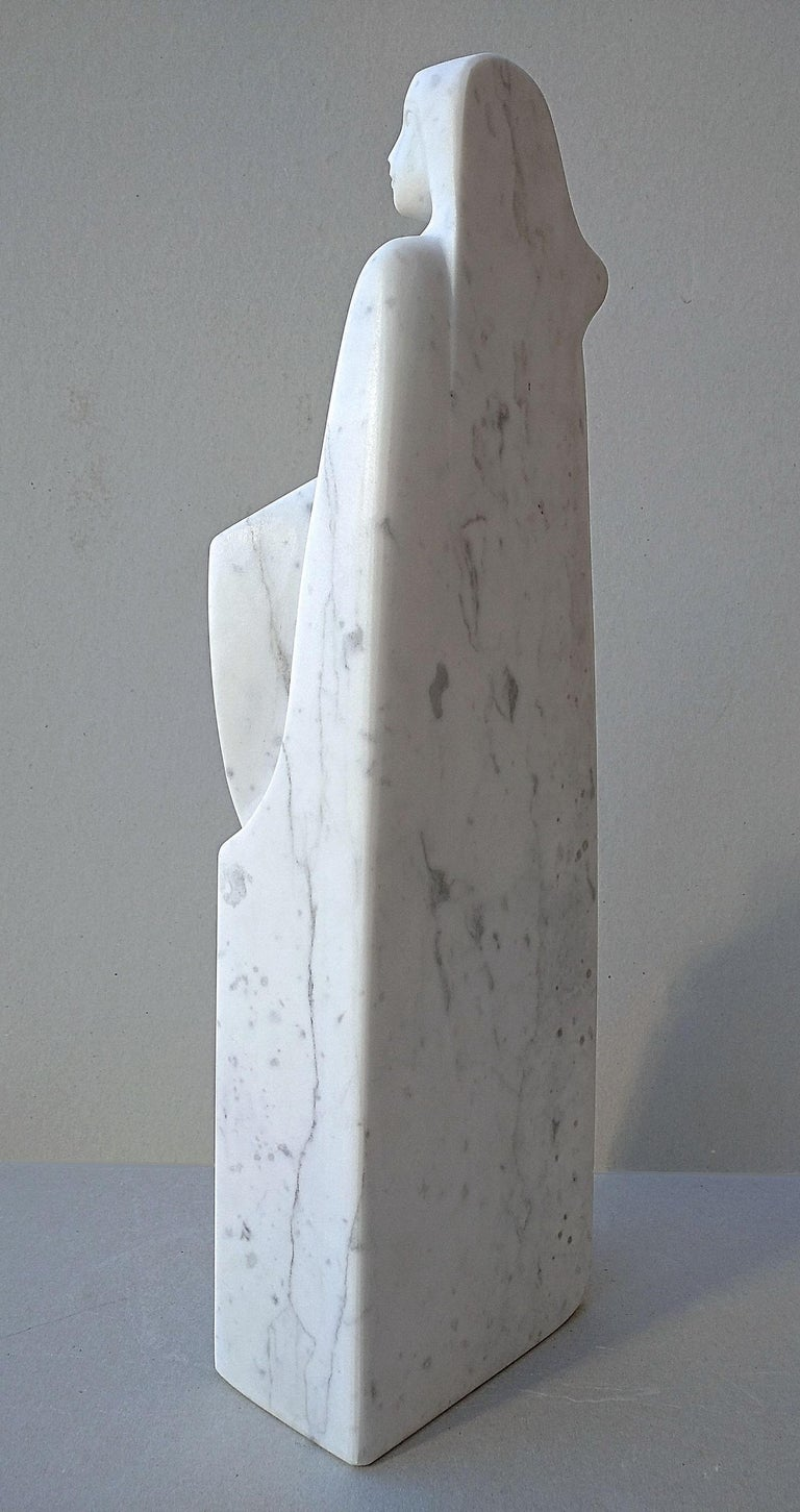 The Source, White Carrara Marble Stone Vertical Figurative Sculpture For Sale 7