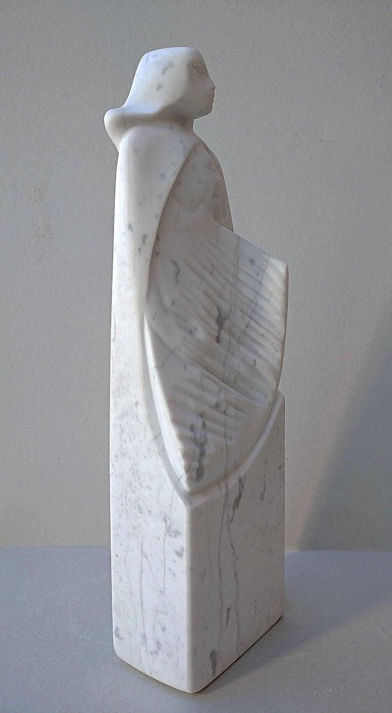 The Source, White Carrara Marble Stone Vertical Figurative Sculpture For Sale 9