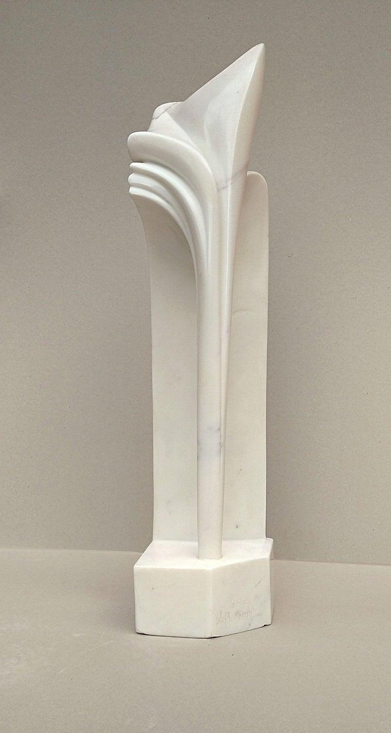 Arch, Sensual White Carrara Statuary Marble Stone Vertical Figurative Sculpture For Sale 2