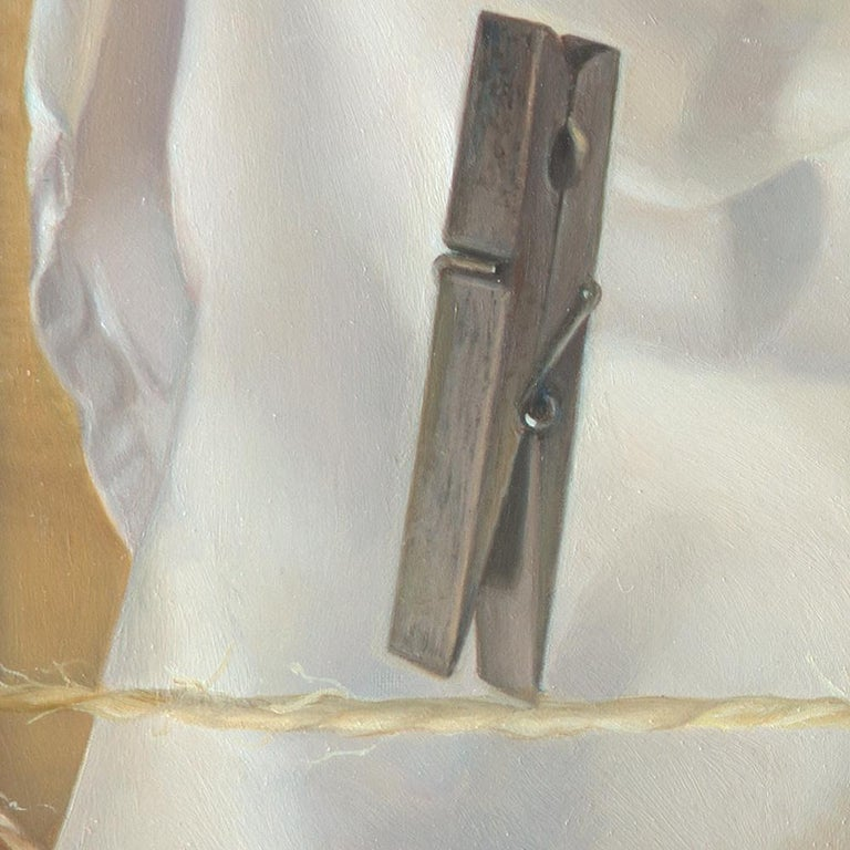 """""""The Tightrope Walkers"""", Clothes Pins' Performance, Symbolist Oil Painting 1"""