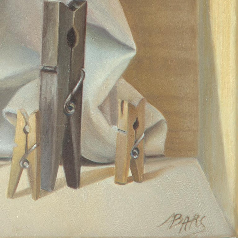 """""""The Tightrope Walkers"""", Clothes Pins' Performance, Symbolist Oil Painting 8"""