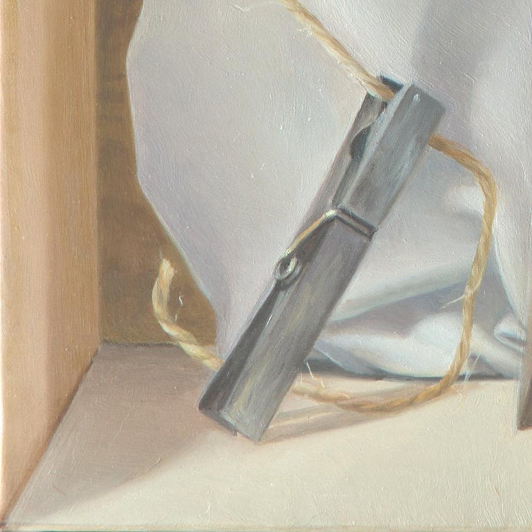 """""""The Tightrope Walkers"""", Clothes Pins' Performance, Symbolist Oil Painting 9"""