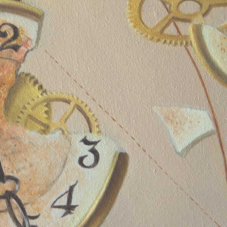 """""""The Golden ratio"""", Hand of Man not Worth that of Nature, symbolist Oil Painting For Sale 4"""