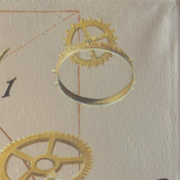 """""""The Golden ratio"""", Hand of Man not Worth that of Nature, symbolist Oil Painting For Sale 5"""