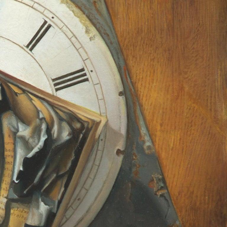 """Good Phoenix"", Burning Book Symbolist Oil Painting For Sale 6"