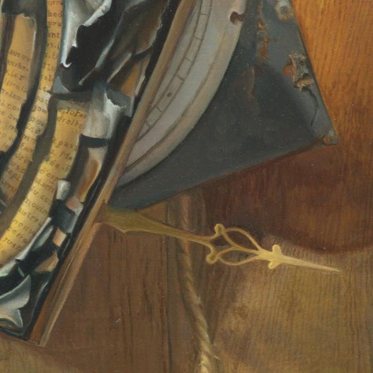 """Good Phoenix"", Burning Book Symbolist Oil Painting For Sale 7"