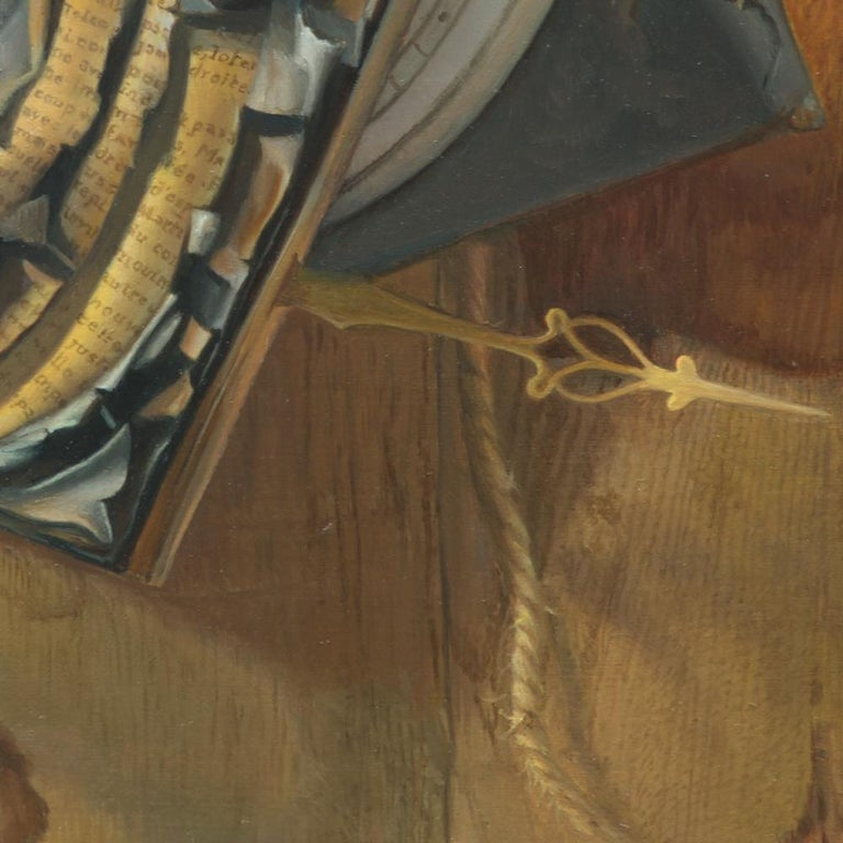 """Good Phoenix"", Burning Book Symbolist Oil Painting For Sale 8"