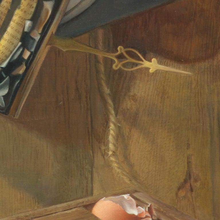 """Good Phoenix"", Burning Book Symbolist Oil Painting For Sale 9"