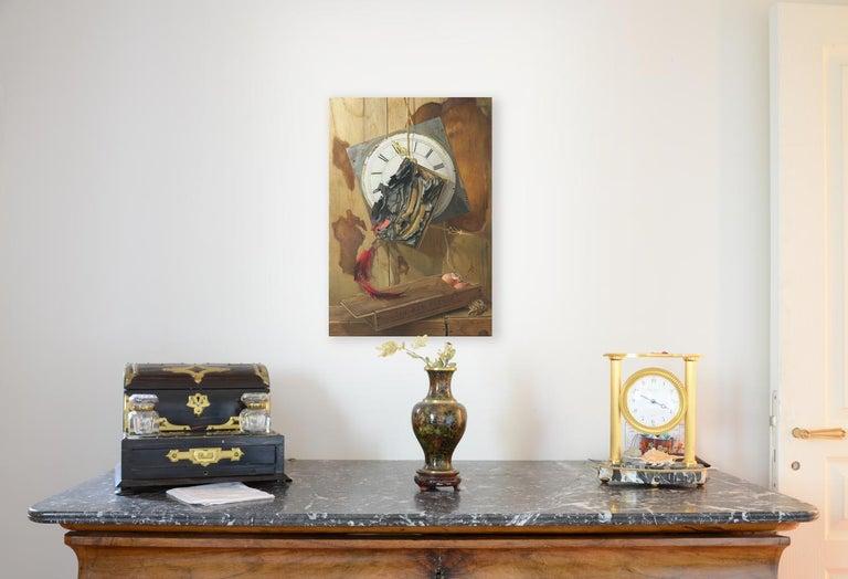 """Good Phoenix"", Burning Book Symbolist Oil Painting For Sale 11"