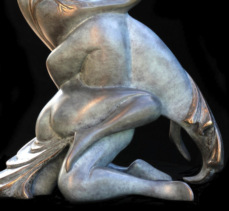 This Bronze by Isabelle Jeandot is one edition of a limited series of eight original sculptures, and it will be delivered with the certificate of authenticity provided by the foundry.  Passionate about the spirit, with her timeless and universal