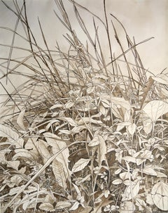 """""""Wind in the Grass"""" Inhabited by Human, Chinese Ink and Wash Drawing on Paper"""
