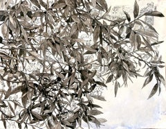 """""""The Leaves of my Books """", Humans, Nature, Pigment Chinese Ink Acrylic Drawing"""