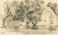 Pencil Landscape - The Old Mill