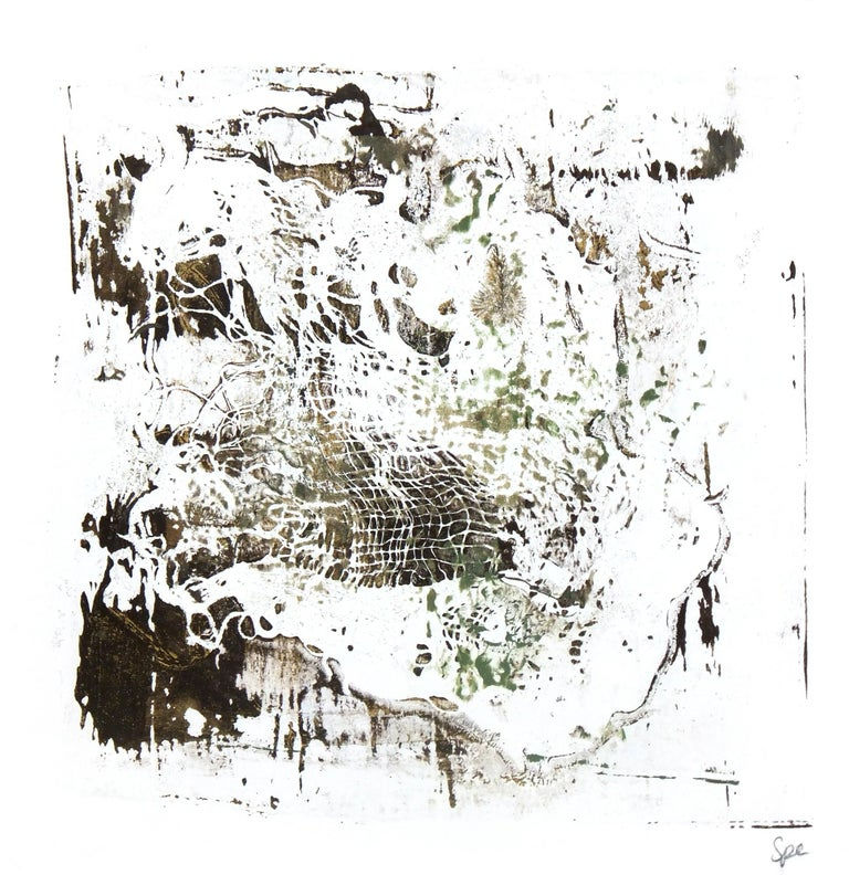 Unknown Abstract Painting - Lacey Abstract