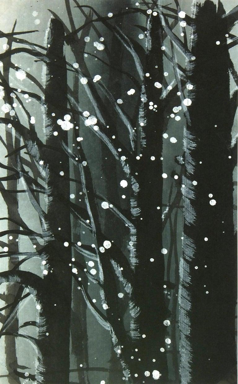 Unknown Landscape Art - Landscape Gouache - Winter Forest Snow