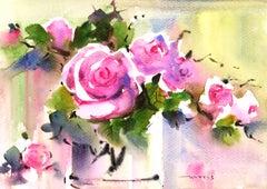 Still Life Watercolor - Resplendent Roses