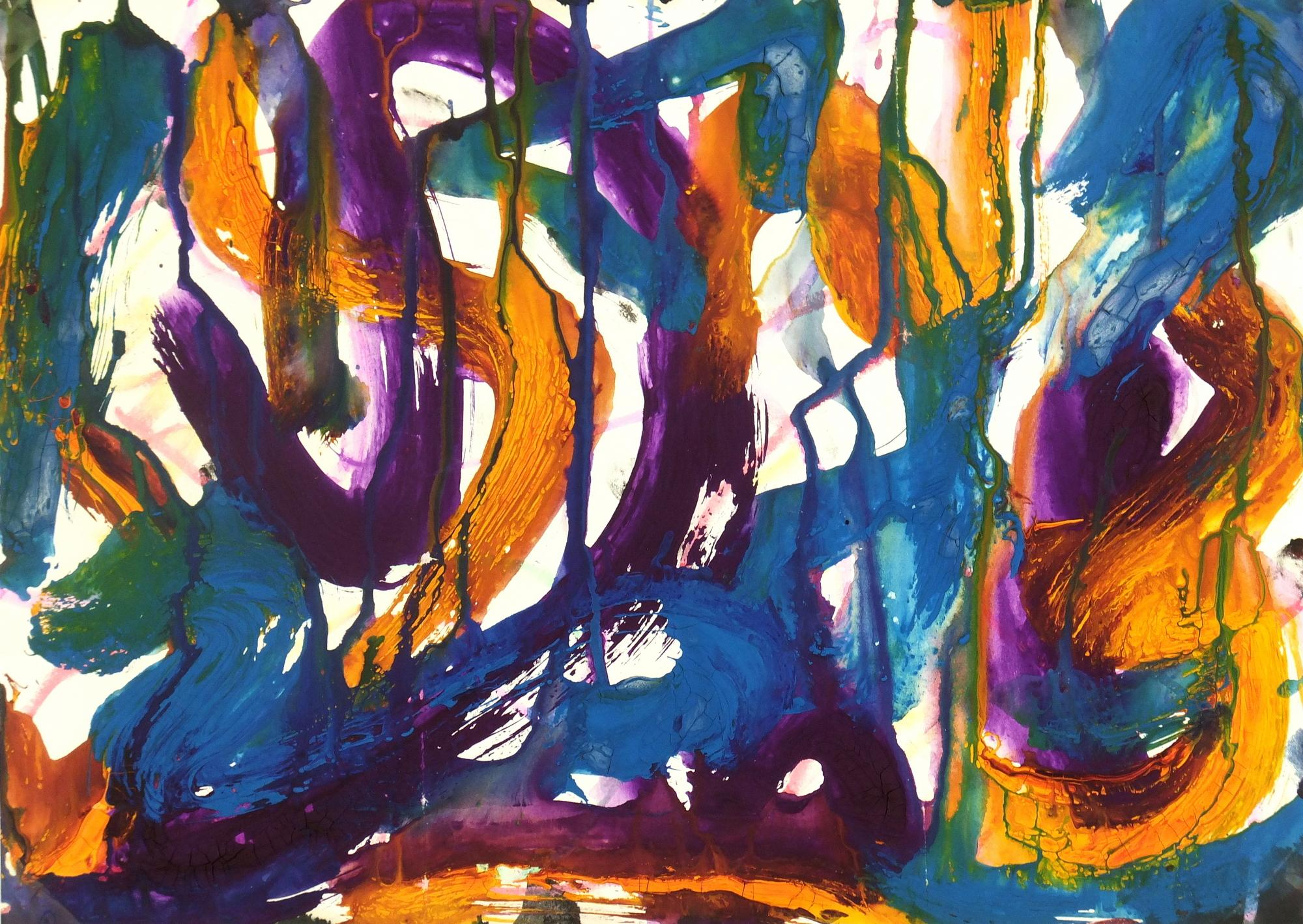 Vibrant Color Abstract Twists and Turns