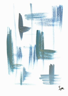 English Abstract - Blue Crisscross
