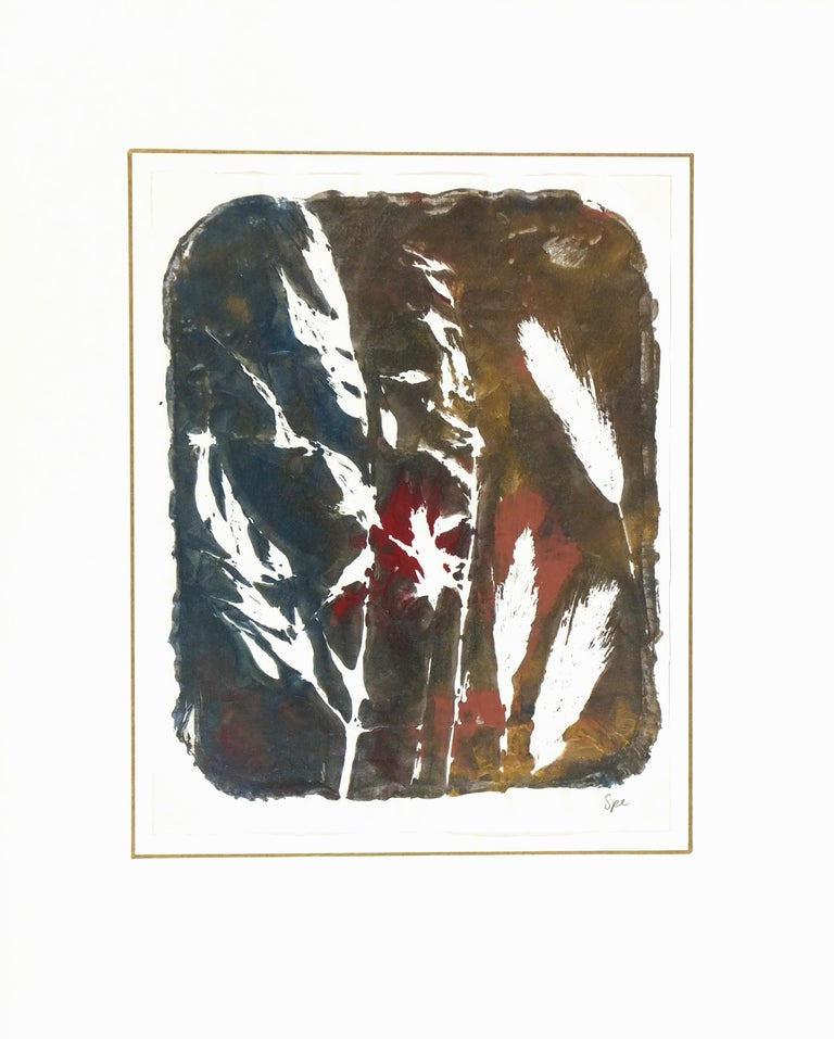 English Abstract Painting - Modern Grass For Sale 3