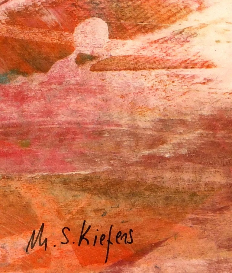 Desert Colors Abstract - Brown Abstract Painting by Michael S. Keifers