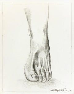 Contemporary Italian Pencil Drawing - Study of a Foot