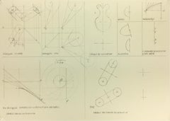 French Geometric Technical Drawing
