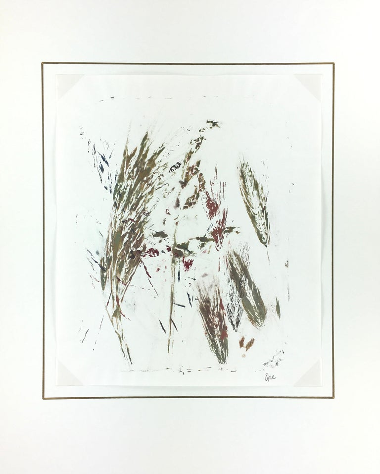English Abstract Painting - Modern Grass For Sale 1