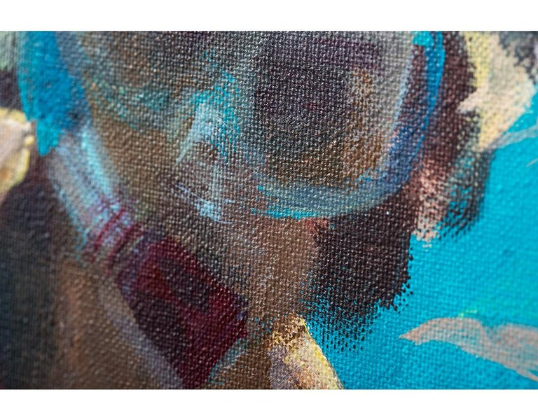 V. under water - Contemporary Painting by Emma Gomara