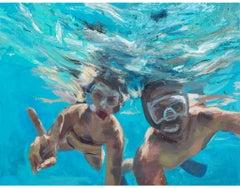 V. under water