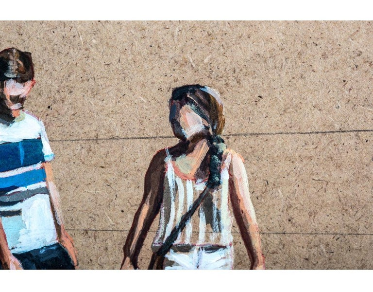 Vacation Time - Brown Figurative Painting by Emma Gomara