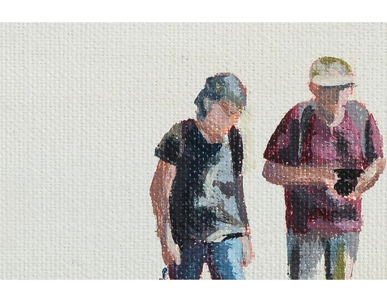 Taking pics in San Francisco - Contemporary Painting by Emma Gomara