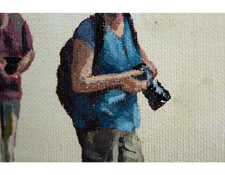 Taking pics in San Francisco - Painting by Emma Gomara