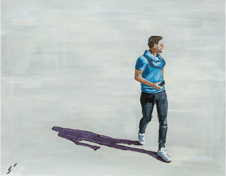 Emma Gomara Figurative Painting - Boy in blue