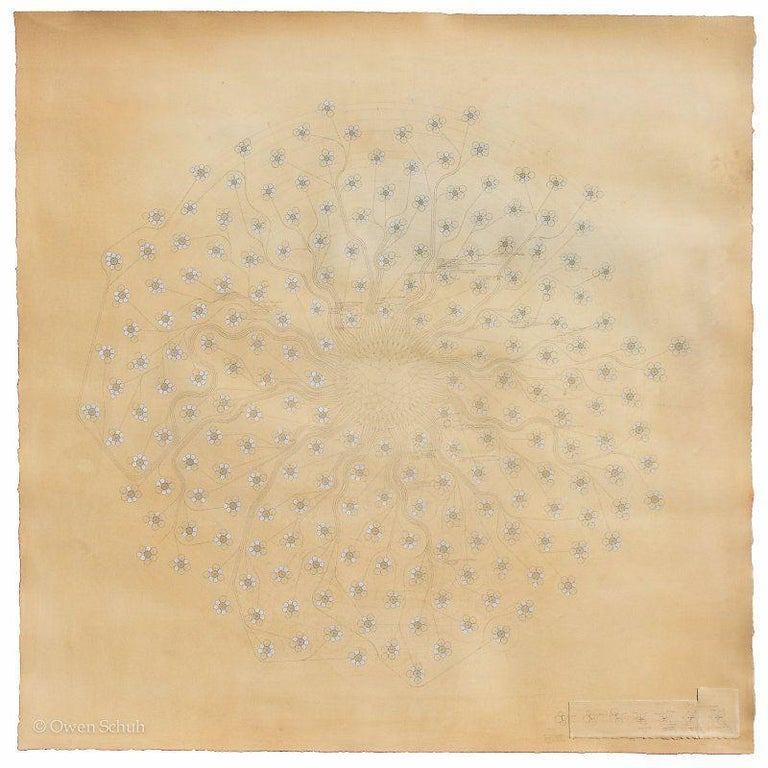 OWEN SCHUH Accumulating More (Circle Packing), 2014 work on paper - Art by OWEN SCHUH