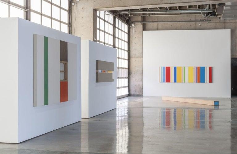 OSHA Red & White ( three panels) - Painting by Max Estenger