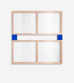 Blue See-Through Painting (four panels)
