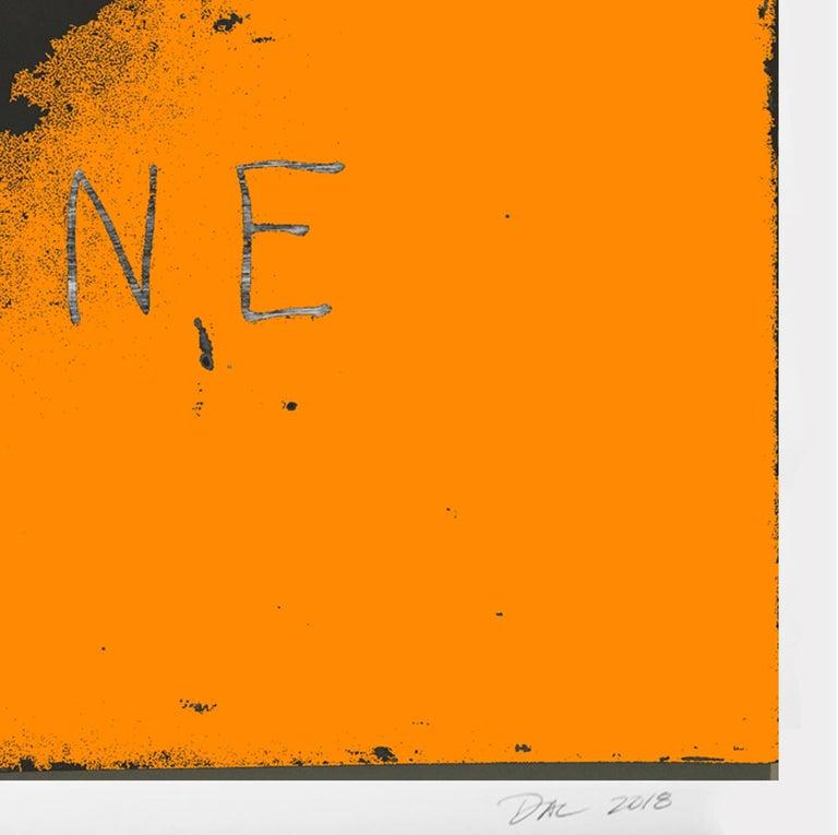 Bone - Orange Abstract Print by Dal Henderson