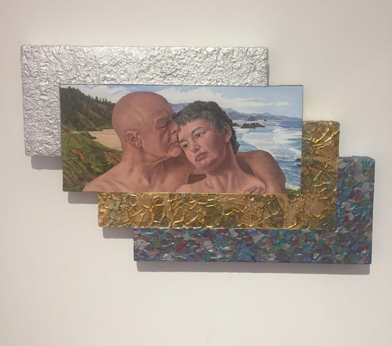 Jack Reilly, Two Perfect Souls in a Perfect Place and Time, Mixed Media,2018 For Sale 2