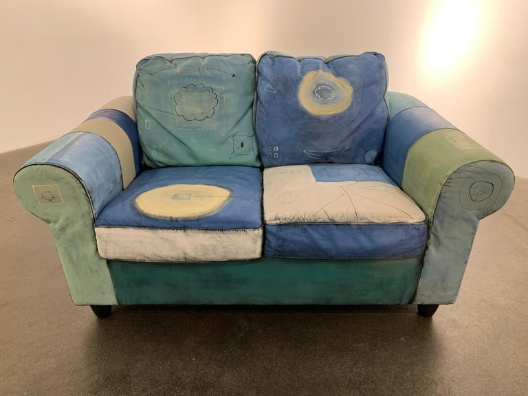 Airom Still-Life Sculpture - Input and Output, hand painted functional couch / loveseat