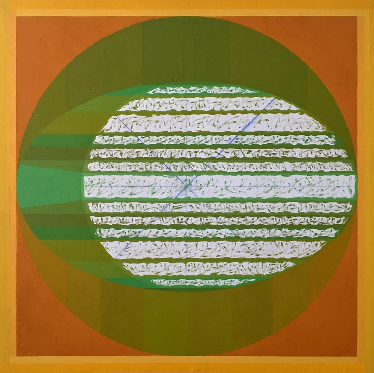 Gloriane Harris Abstract Painting - Next Eclipse of Green