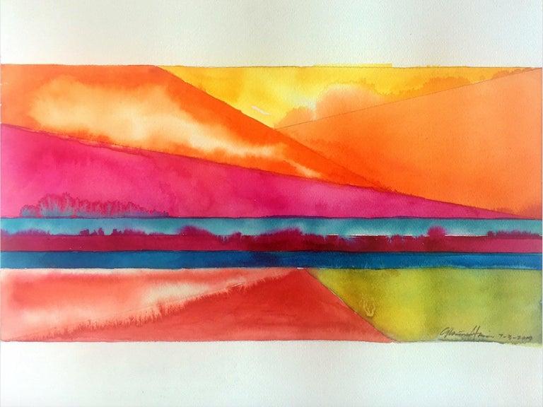 Gloriane Harris Abstract Drawing - Channel Island