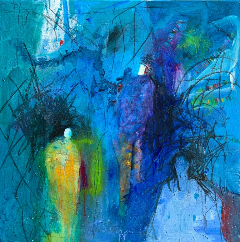 Robin Walker Abstract Painting - Three Figures