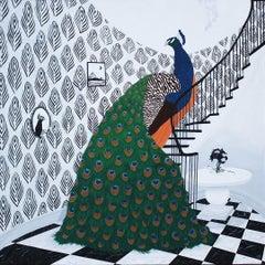 Peacock Descending A Staircase