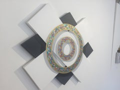 Jack Reilly, Circles of Time, Mixed Media, Abstract Ilusionist Work, 2016