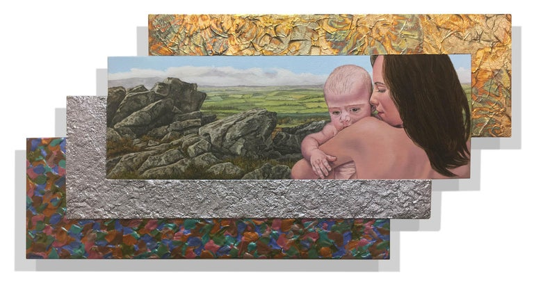 Jack Reilly, Madonna of the Rocks, Mixed Media, 2018 - Painting by Jack Reilly