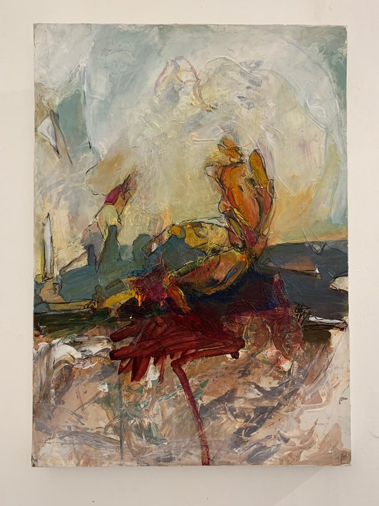 Harry Gundersen Abstract Painting - Caldera's Edge, 2018
