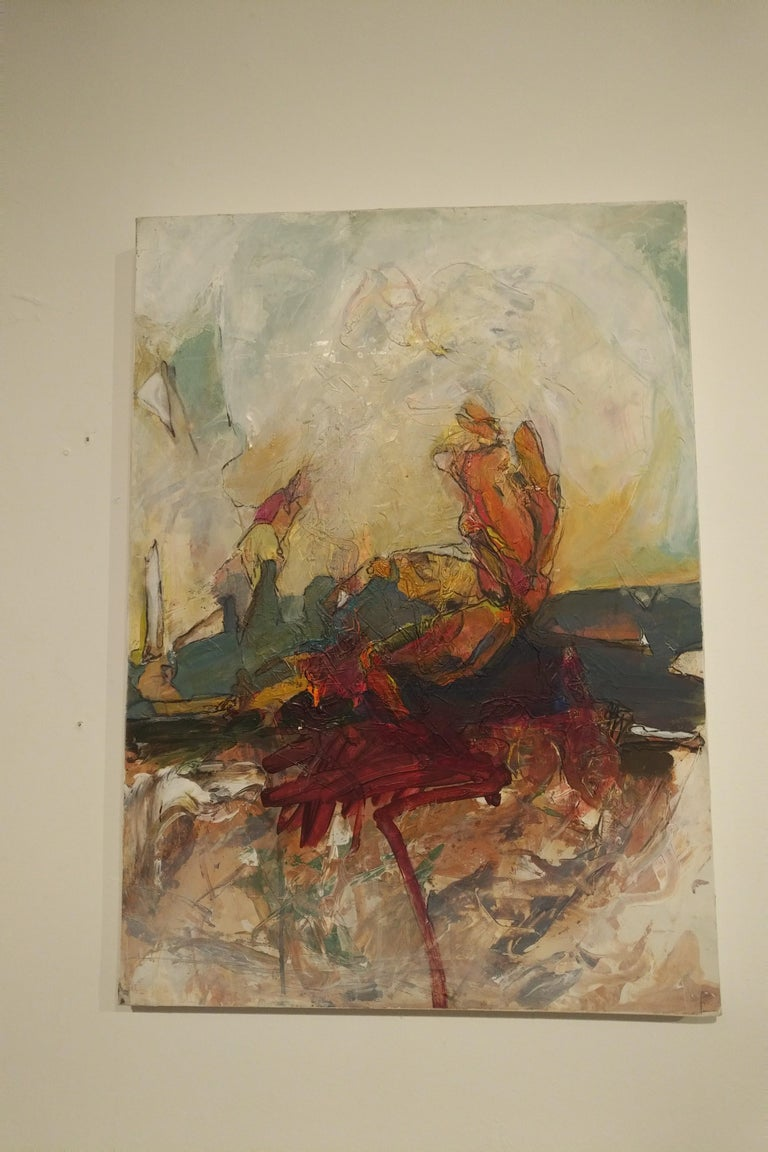 Caldera's Edge, 2018 - Painting by Harry Gundersen