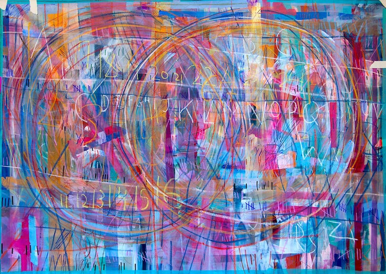Meghan Hedley Abstract Painting - How Do We Share the Air?