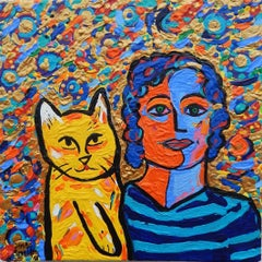 Yellow Cat & Woman