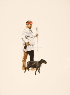 A man and his dog by Michael John Hunt
